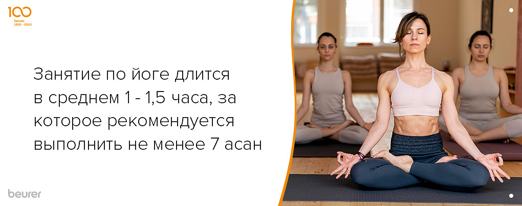Рекомендации по времени в йоге