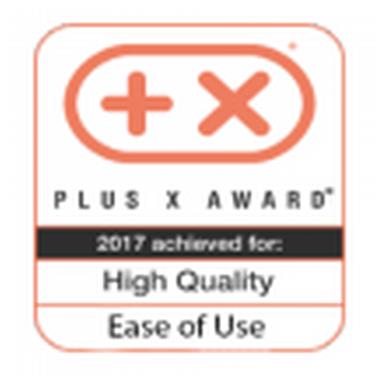 Награда Plus X Award за высокое каччество и простоту в использовании