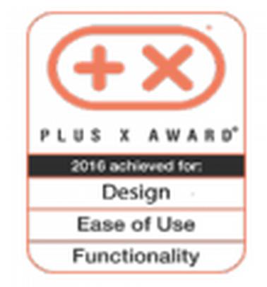 Премия Plus X за дизайн, простоту в использовании и функциональность