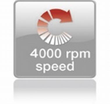Высокая скорость вращения