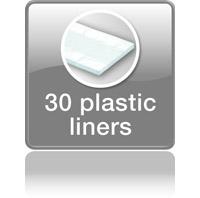 30 полиэтиленовых плёнок