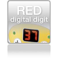 Красный цифровой индикатор