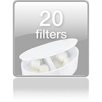 В комплекте 20 фильтров