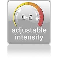 5 уровней интенсивности