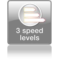 3 уровня скорости