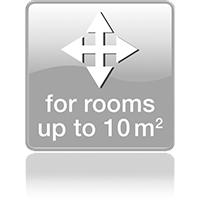 Для помещений до 10 кв.м.
