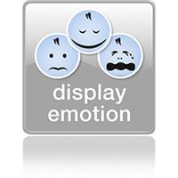 Эмоции ребенка на дисплее