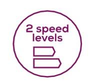 2 уровня скорости
