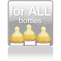 Подходит для любых бутылочек