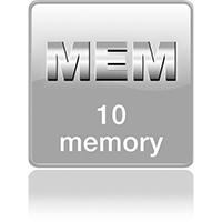 10 ячеек памяти